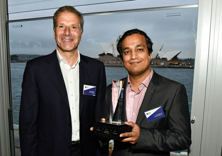 TSA Chairman Matthew Quinn and SMART Prize Winner Atul Agarwal
