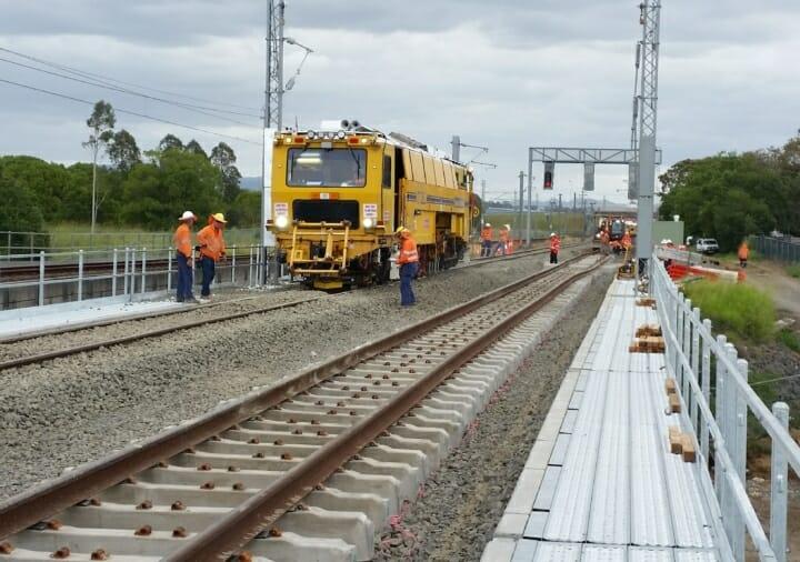 rail bridge work