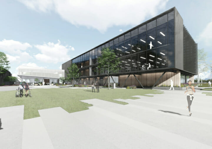 Render of Park Central Building Waikato Business Park