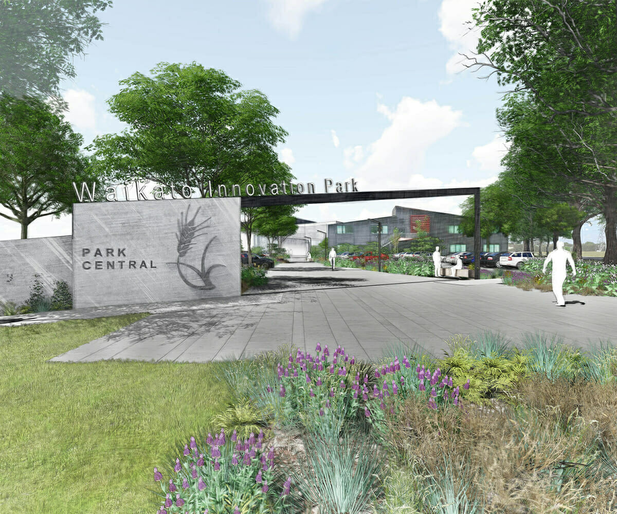 Render of the Park Central Building Entry