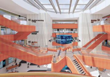 Artists impression of the central atrium of the new University of Newcastle STEMM Building