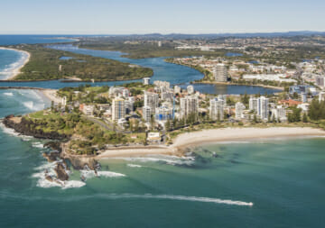 Arial photo of Tweed Heads