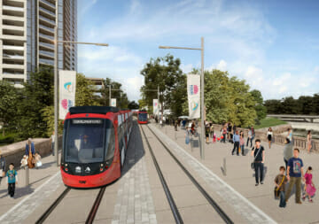 Artists impression of the Parramatta Light Rail