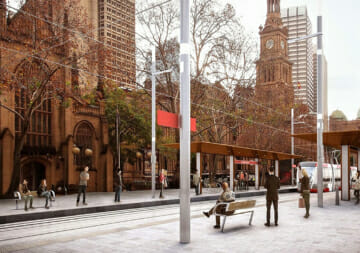 Artists impression of Sydney Light Rail