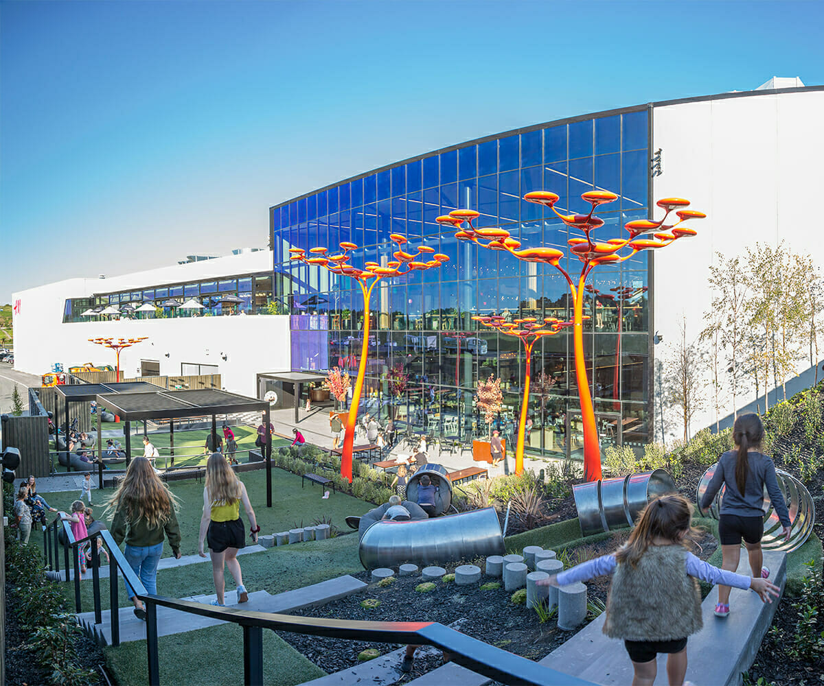 Tauanga Crossing outdoor play area