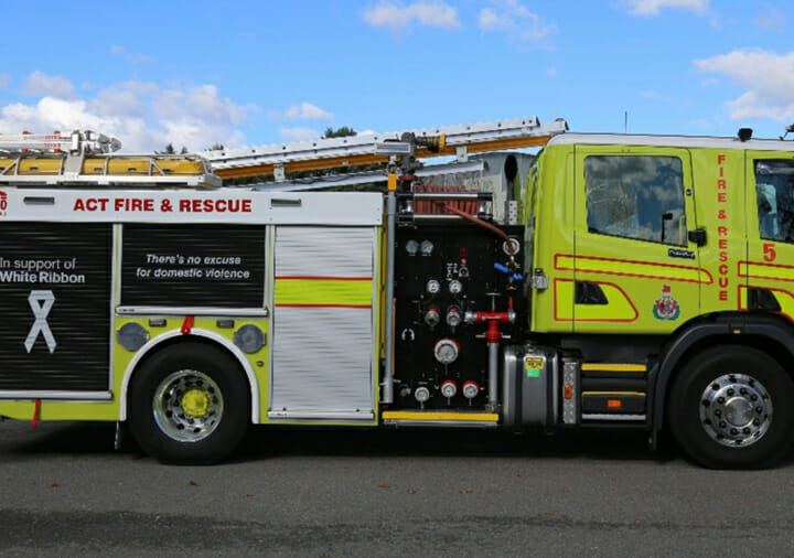 ACT Fire and Rescue truck