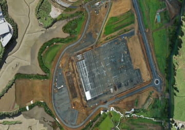 Arial photo of site